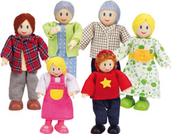 Hape Dolls Caucasian Family - Set of 6