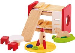Hape All Seasons Doll Furniture - Childs Bedroom Set