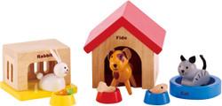 Hape All Seasons Doll Furniture - Family Pet Set