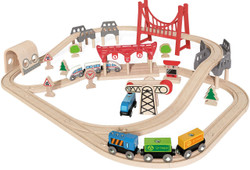 Hape Double Loop Railway Complete With bridges