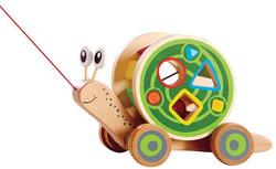 Hape Snail Pull and Play Shape Sorter