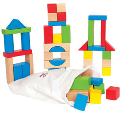 Hape Maple Block Set - 50 Pcs
