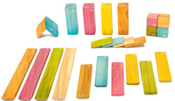 Tegu Magnetic Wooden Block - 24 Piece Tints Set