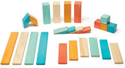 Tegu Magnetic Wooden Block - 24 Piece Sunset Set