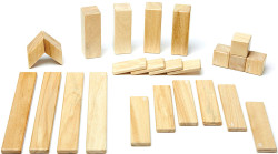 Tegu Magnetic Wooden Block - 24 Piece Natural Set