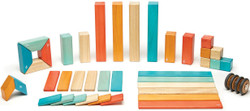 Tegu Magnetic Wooden Block - 42 Piece Sunset Set