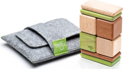 Tegu Pocket Pouch Magnetic Travel Blocks - Jungle