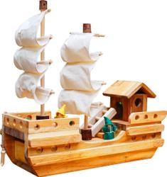 Qtoys Wooden Pirate Ship set