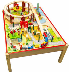 Mamagenius Town Train Set And Table 104 Pcs