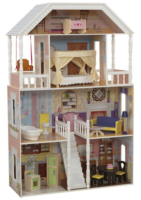 large wooden dollhouse - savannah