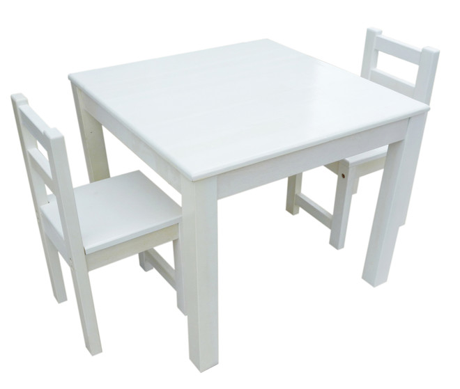 Qtoys Eco Friendly White Kids Table And Chair Set