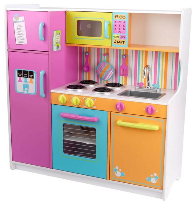 Beautiful Kidkraft Bright Kitchen Accessories Part - 3: Kidkraft Big And Bright Large Wooden Play Kitchen