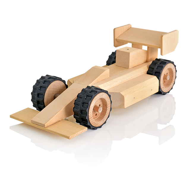 Wooden Toy Trucks For 3 Year Old : Buildme racing car fast kids woodwork building kits