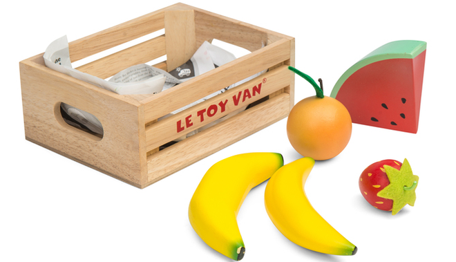 le toy van honeybake wooden fruit crate