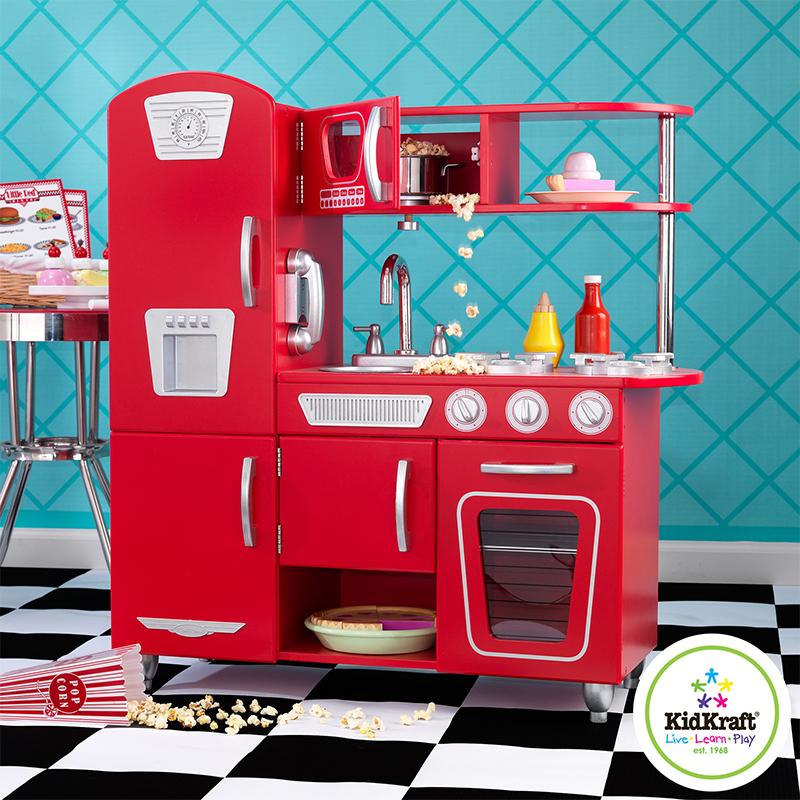 Kidkraft Retro Kitchen Red On Sale Cheapest Prices