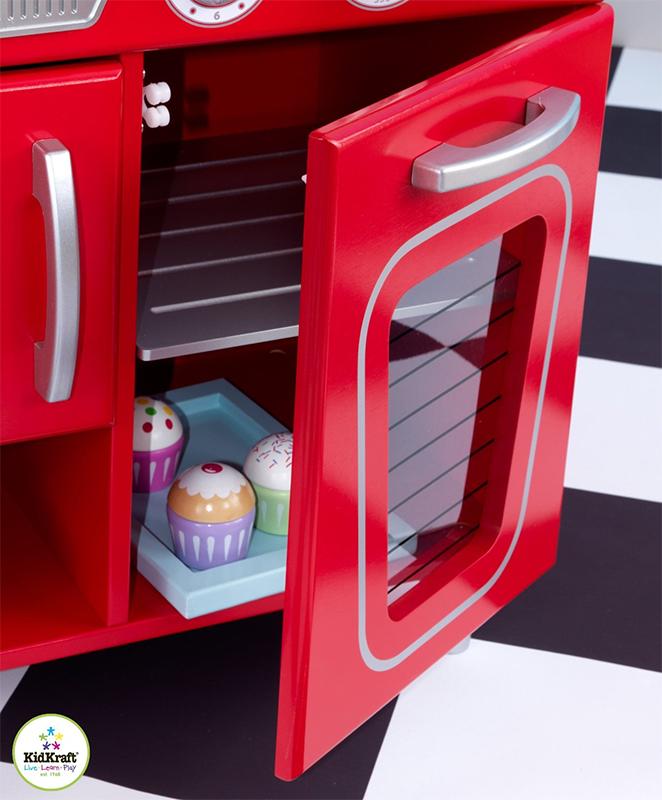 Kidkraft Vintage Kitchen In Blue 53227: KidKraft Retro Kitchen Red