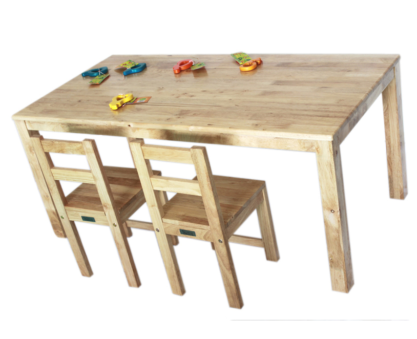 Qtoys Natural Rectangle Wooden Kids Table ...