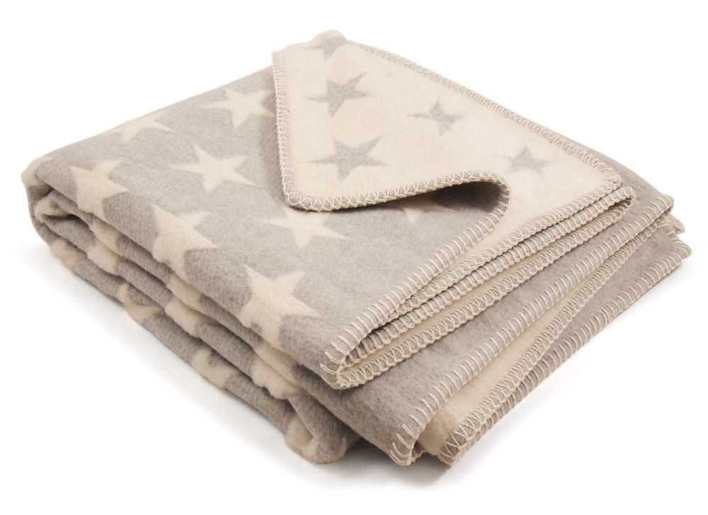 david fussenegger grey stars cot blanket on sale now. Black Bedroom Furniture Sets. Home Design Ideas