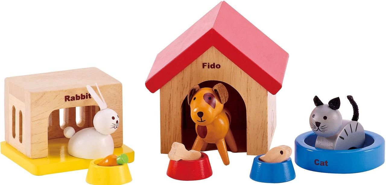 dolls furniture set. Hape All Seasons Doll Furniture - Family Pet Set Dolls