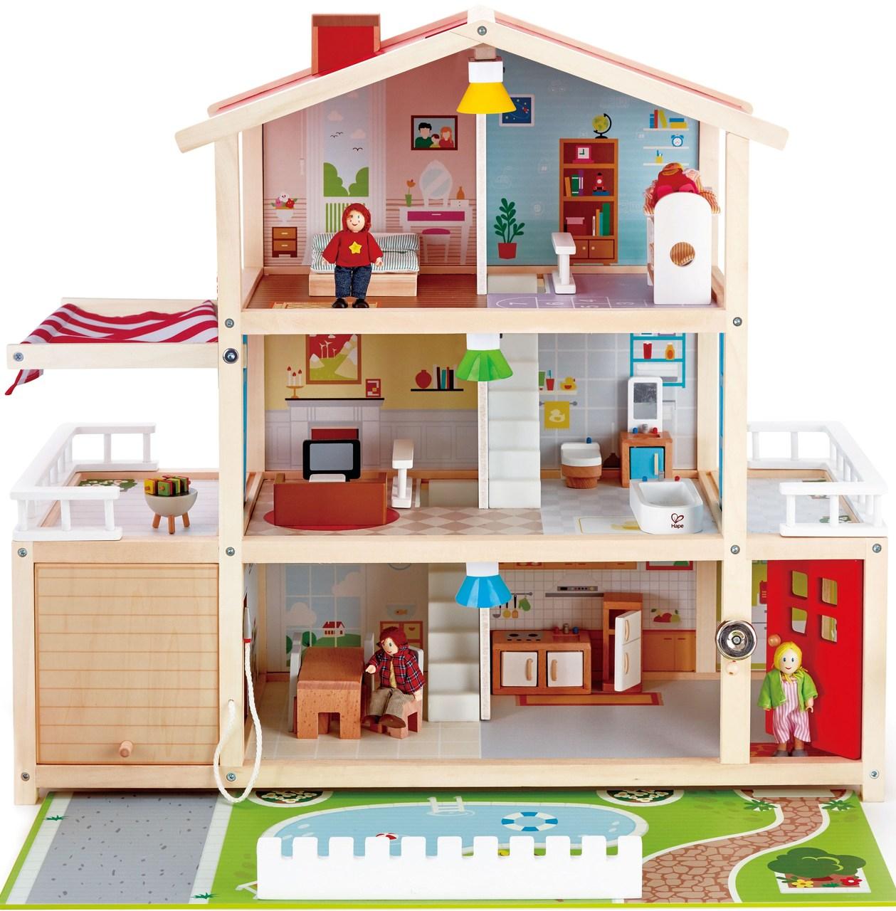 Hape Children S Room Wooden Doll Furniture