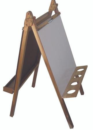 Qtoys 5 In 1 Wooden Easel With Chalkboard Blackboard