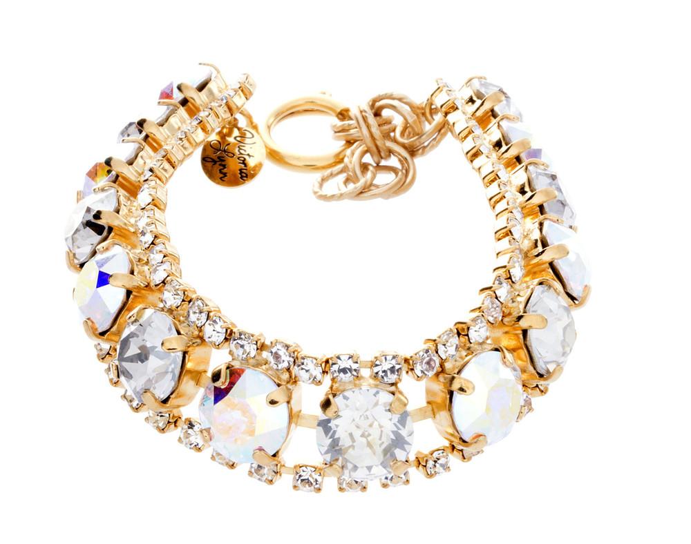 8mm Single Row Crystal Wrap Bracelet