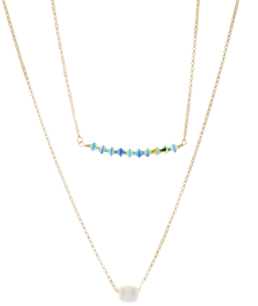 Sea Jasper and Pearl Necklace