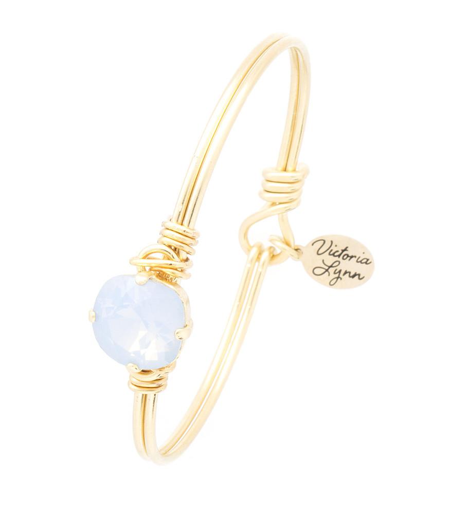 Under the Sea Single 10mm Wire Wrap Goldtone Bracelet