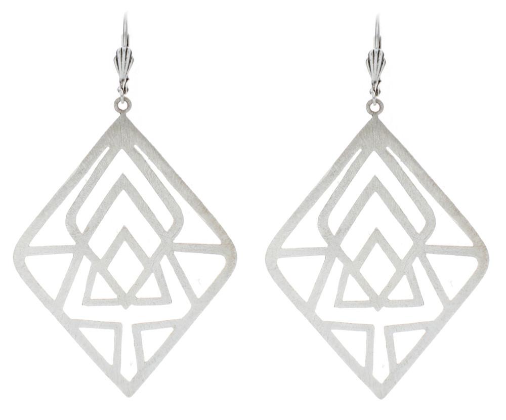 Tribal Earrings -  Silver