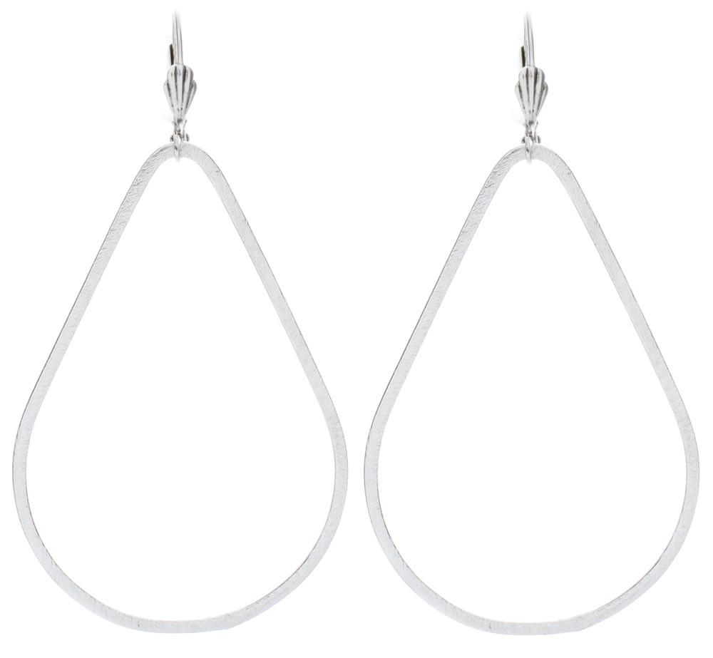 Pear Earrings - Silver