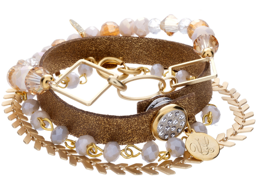 Each stack will be a mixed combination of crystal beads in an assortment of shades of the selected color.