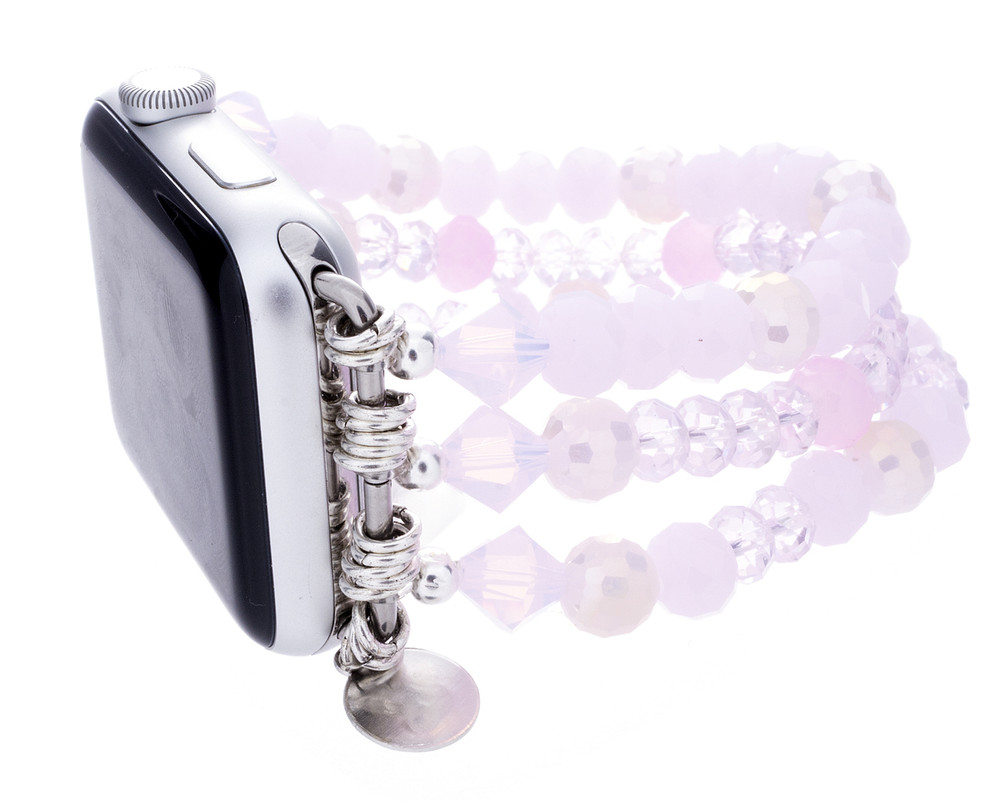 Apple Watch Beaded Bands Pinks
