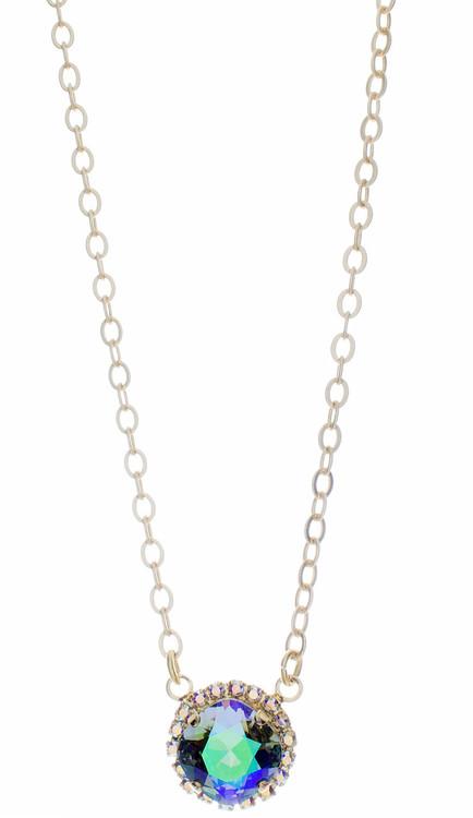 Necklace 12mm Crystal Wrap - Goldtone