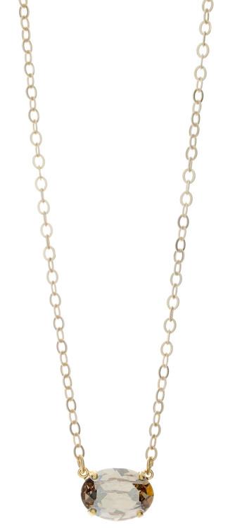 Necklace 18mm Oval Goldtone