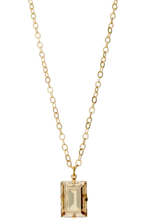Necklace - 18mm Square  - Gold Tone