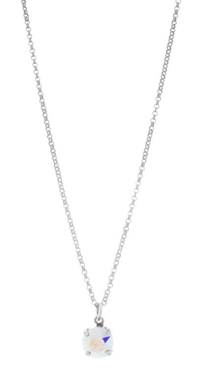 Children's 8mm Single Drop Necklace Silver