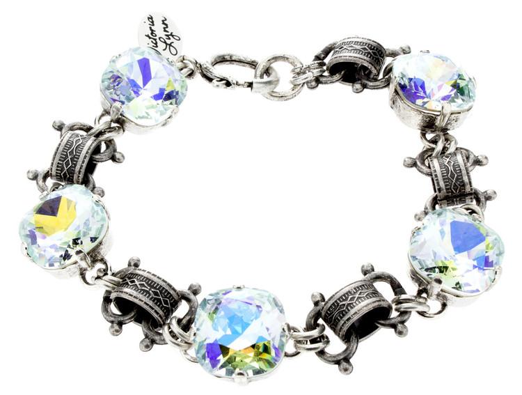 12mm Victorian Silvertone Bracelet