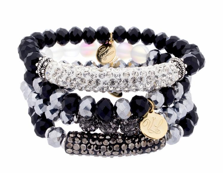 Stretch Bracelets - Set of 4- Blacks