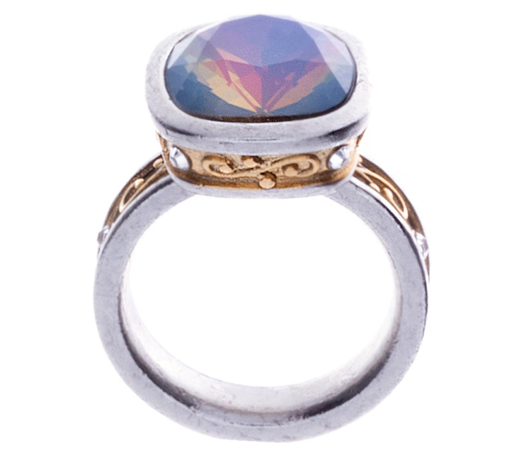 Scroll Ring - Slv/Gld - Size 9 Only