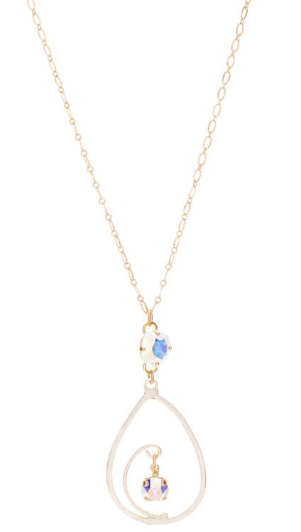 Teardrop Swirl Necklace