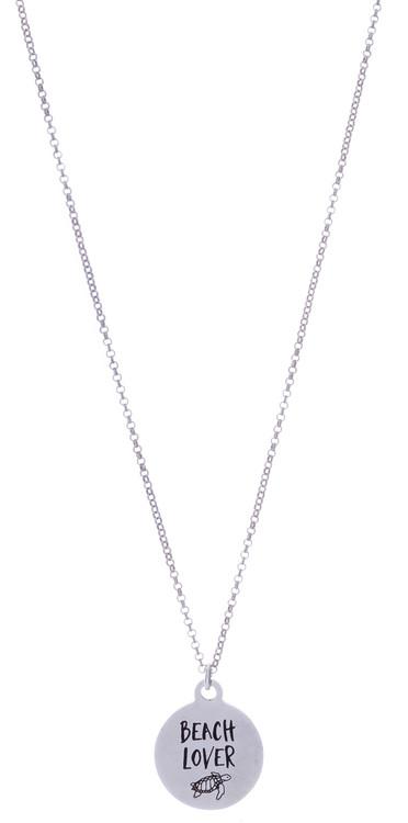 Beach Lover Necklace - Silver
