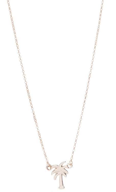 Palm Trees Necklace - Gold