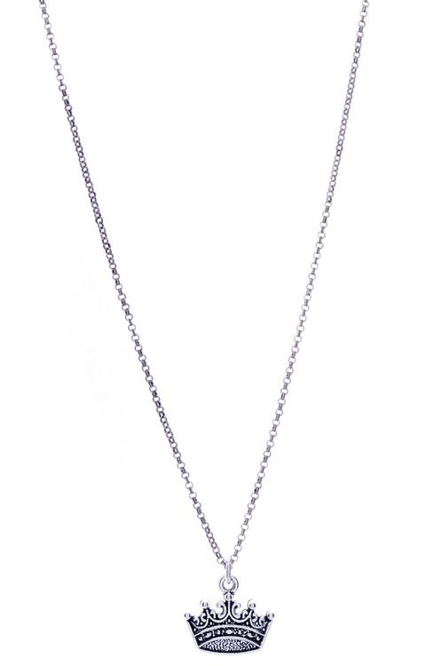 Crown Necklace - Silver