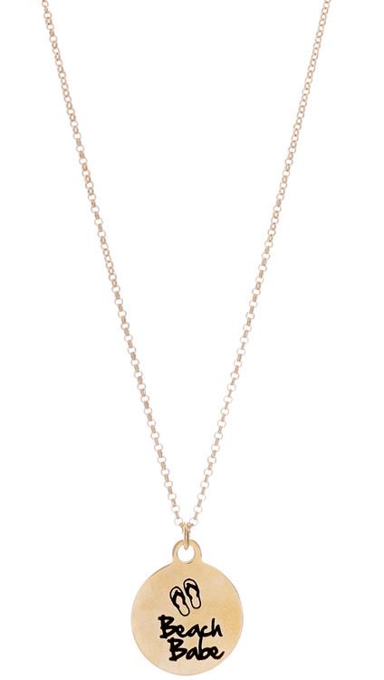 Beach Babe Necklace - Gold