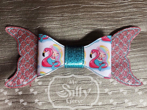 5x7 Hair Bow Loop Mermaid