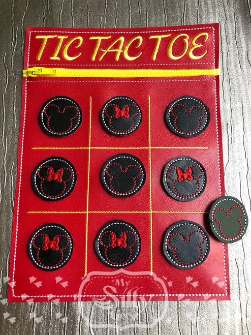 5x7 Tic Tac Toe Zip Pouch Mice
