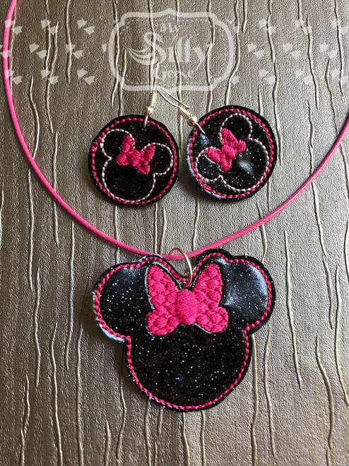 4x4 Girl Mouse Jewelry (Earrings and Necklace Set)