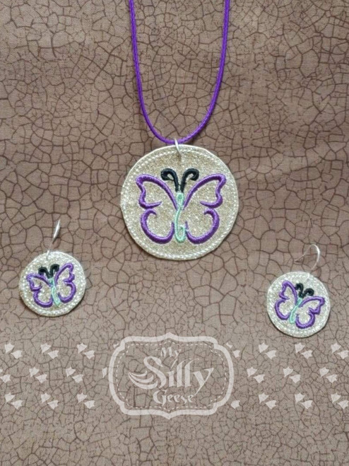 4x4 Butterfly Jewelry (Earrings and Necklace Set)