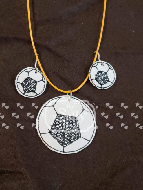 4x4 Soccer Jewelry (Earrings and Necklace Set)