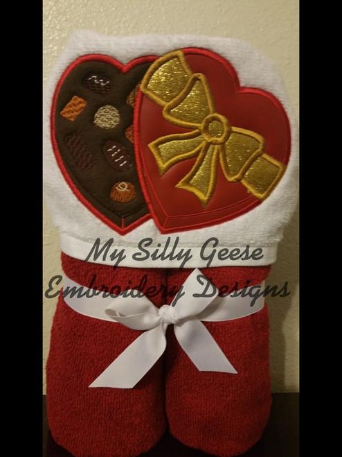 4x4 Chocolate Heart Box